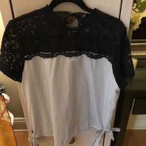Lace and cotton top